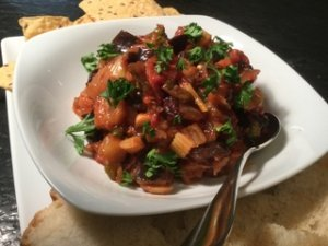 Serve Eggplant Caponata for lunch in a sandwich or enjoy as an appetizer!