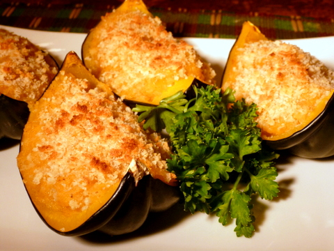Easy to prepare...this acorn squash recipe is stuffed with pineapple and cinnamon! Even kids will like it.
