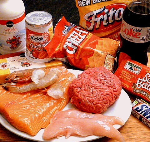The Atkins diet is made up of lots of protein and fat.