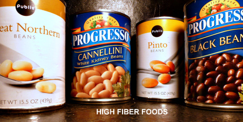 Stock up on high fiber canned goods. This supply will keep your fiber intake on the