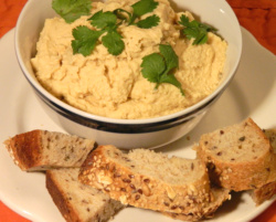 Healthy lunch recipes should include hummus. Serve as a sandwich spread and leave out the mayonnaise.