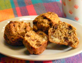 Flax Seed Date Muffins are high in fiber and low in fat.