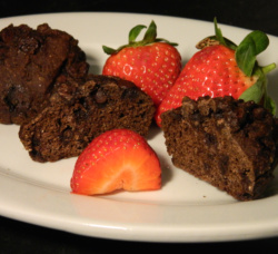 The Mocha Muffins can be made with cocoa or carob powder!