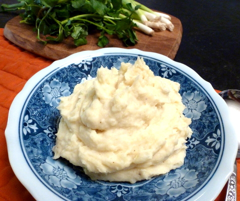Mashed potatoes are loved by all ages.  No need to have them laden with fat in order to be tasty.