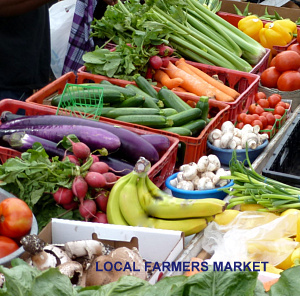 Your local farmer's market is a good place to shop.