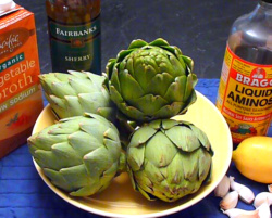 Artichokes are a special treat.