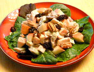 This Waldorf Salad has a very healthy dressing.
