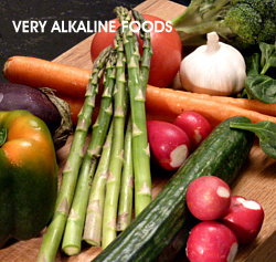 Plant based foods are very alkaline.