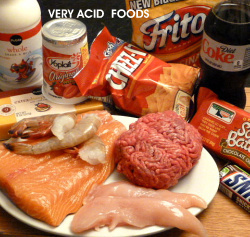 Meat products can cause an acid condition in the body.