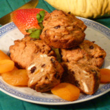 Cinnamon Carrot Muffins are loaded with dried fruits, seeds and nuts!
