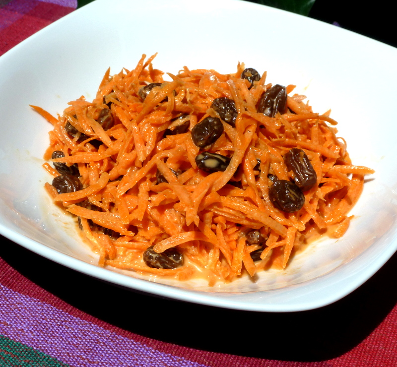 Carrot and Raisin Salad is a sweet salad with a crunchy texture!