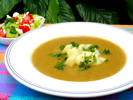Patato Leek Soup - a thick and creamy soup.