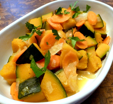 Kabocha squash is an Asian variety of a winter squash.