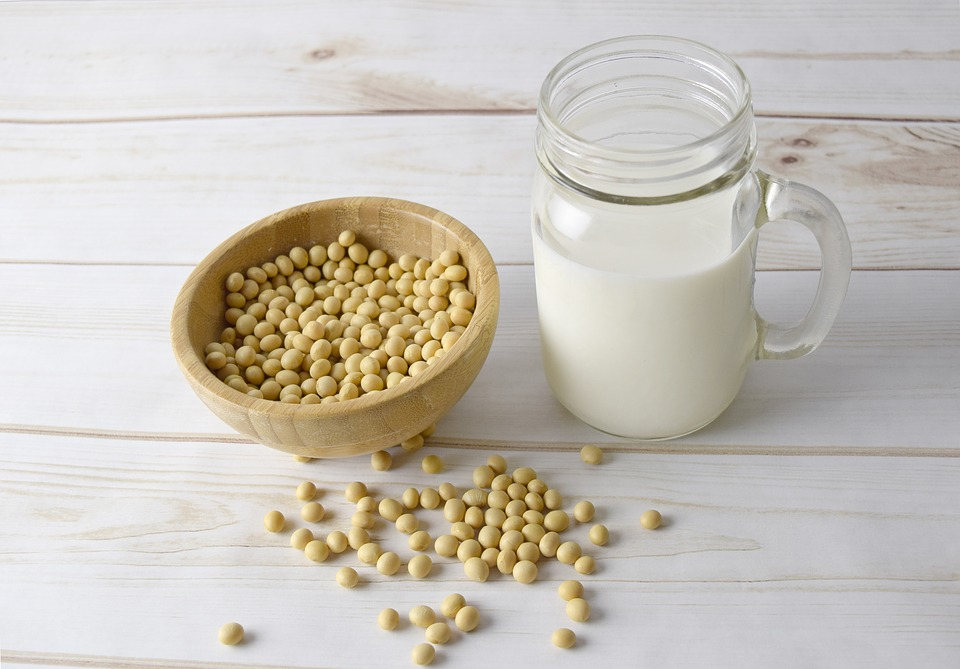 There is no cholesterol in soy milk.