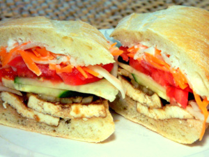 The Vegetarian Vietnamese Style Sandwich qualifies as a