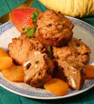 Healthy muffins with dried fruit makes a great breakfast treat.
