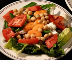 A big salad every day is a good way to stay healthy.